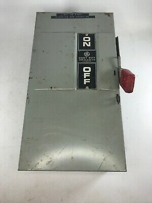 GE Heavy Duty Safety Switch 100 Amp/ 240V/ HP 30 (266209-D) Good Condition