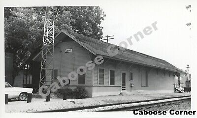 St Louis Southwestern Railway Gilmer Depot Texas 1972 B&W Photo (1929)