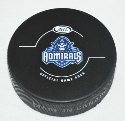 Sports Mem, Cards & Fan Shop Ahl Milwaukee Admirals 01 League Andrews Official Game Hockey Puck Collect Pucks
