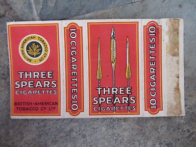 1940 Pacchetto Di Sigarette Three Spears Old Cigarettes Packet