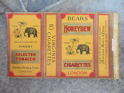1940 Pacchetto Di Sigarette Bears Honeydew London Old Cigarettes Packet