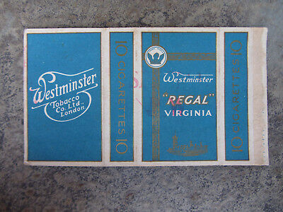 1940 Pacchetto Di Sigarette Westminster Regal Virginia Old Cigarettes Packet