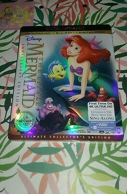 The Little Mermaid 4K Ultra HD Blu-ray Digital BRAND Disney 2019 W/ Slipcover