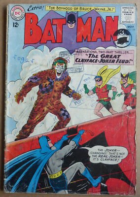 Batman #159, Silver Age Classic With 'the Joker', 1963.