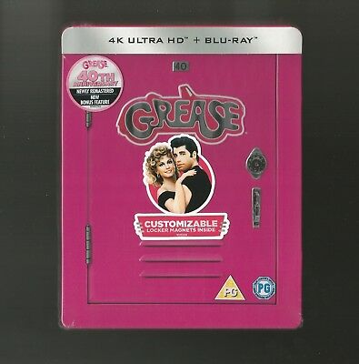 Grease - Uk Exclusive 4K Ultra Hd Blu Ray Steelbook - New & Sealed