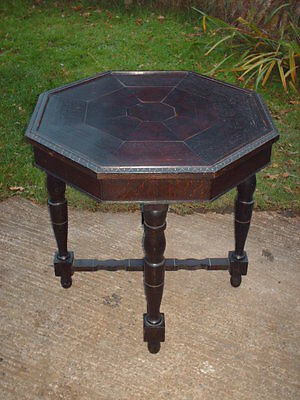 Antique Oak Octagonal  Side / Occasional Table