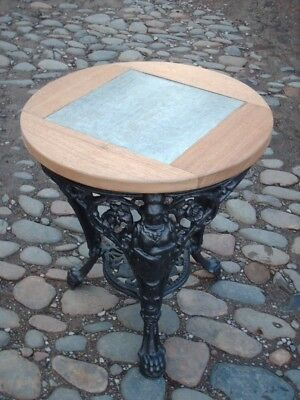Vintage Gaskell And Chambers Cast Iron Pub Table