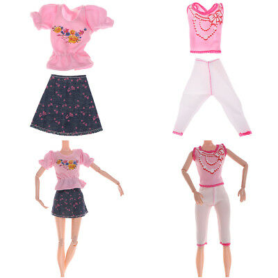 Handmade mini dress pants outfit doll clothes doll accessories for girl gifts Bn