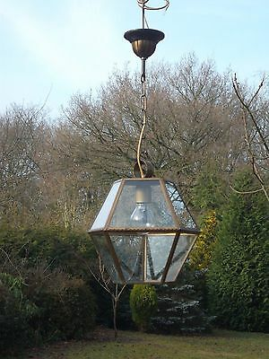 An extremely unusual, brass vintage French  lantern(4391)
