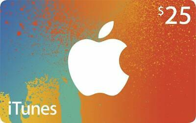 $25.00 Apple iTunes Store Gift Card Canadian Accounts, Email Delivery