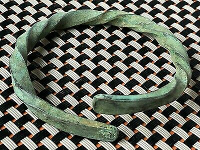 Ancient Roman Bronze Bracelet Circa 100-200 Ad Very Rare