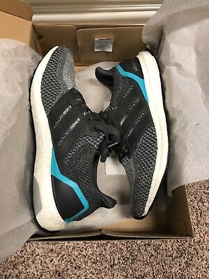 90d45eb3abad7 Adidas Ultra Boost 2.0 Solid Grey Shock Mint Tiffany Mint Blue Teal Mens  Shoes