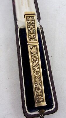 Antique French Needle Case 18ct Gold Empire Style C1830's