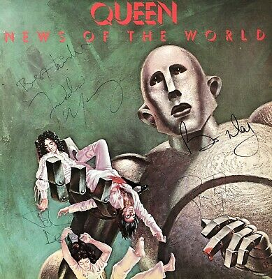 Queen Fully Signed 'News of the World' Album LP Autographs Freddie Mercury