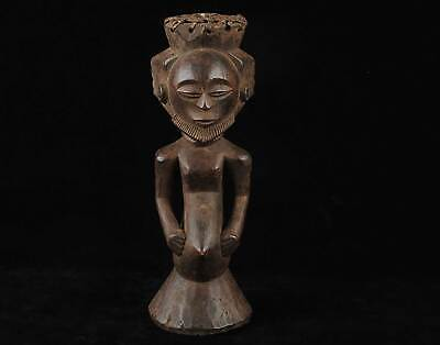 African tribal Art, old Luba statue from DRC Democratic Republic of Congo Zaire