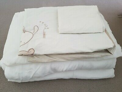 2 Silent Night Cotbed Duvets,1 Silent Night Cotbed Pillow + 1 Cotbed Duvet set