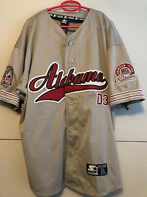 Alabama Crimson Tide Baseball Jersey With Patches, Size L