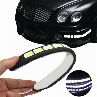 2pcs 12V 20W Waterproof LED Daytime Running Light DRL COB Strip Lamp Fog Car MEU