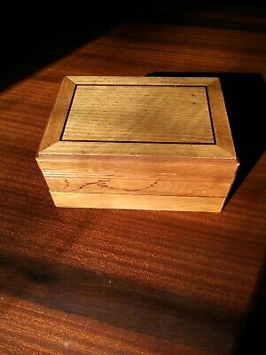RARE Vintage Old West Antique Wooden Gambler's Gambling Travel Box