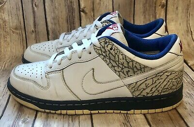 superior quality 0eed5 5873d Nike Dunk Low CL Mens 7.5 Jordan Pack III 304714 True Blue Cement Gray Vtg