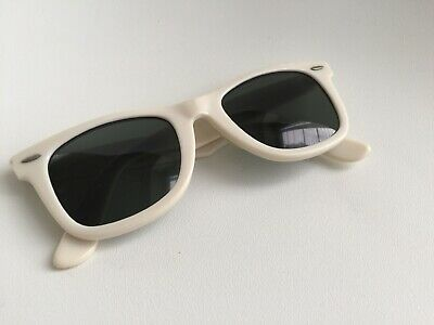 0da2ae440f1f01 VINTAGE 80 s BAUSCH   LOMB RAY BAN MADE IN USA WHITE G15 WAYFARER 5022 VERY  GOOD