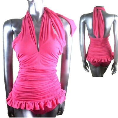 22c593d50 Juicy Couture Beach Surf Royalty Swimsuit Pink Ruffles Halter Costume 6 8
