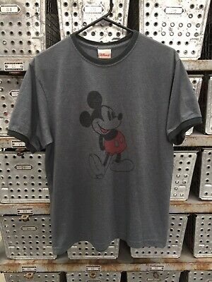 9f0fdb6ad Vintage 90's Mickey Mouse T Shirt Medium Ringer Tee Grunge USA Made Walt  Disney
