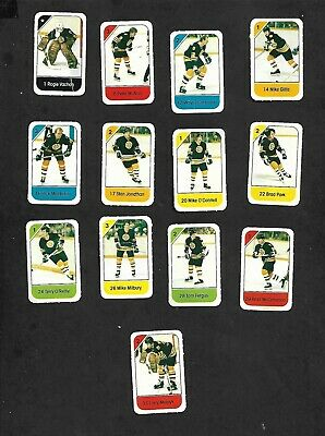 1982-83 Post Cereal Boston Bruins Nhl Team Lot Of 13 Mini Cards: Park, Vachon+