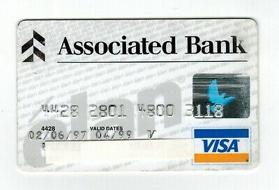 Associated Bank VISA Credit Card - good condition - 1997 to 1999 - collectible