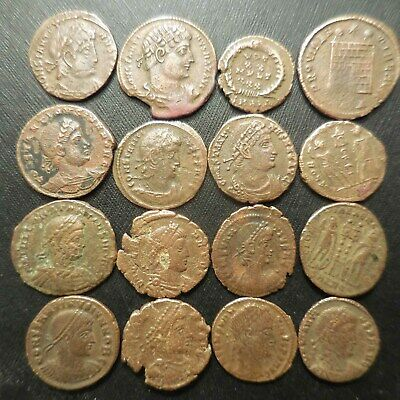 One Day Sale of 16 Ancient Roman Coins, All VF-VF+, Clearly Traveled Together!