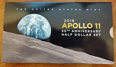 2019-S Apollo 11 50th Anniversary Proof Half Dollar 2 Coin Set with RP Kennedy