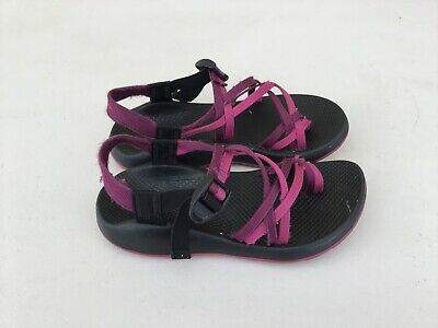 a2f6e953571d CHACO ZX 2 Unaweep Toe Loop Purple Black Vibram Strap Sandals Women s 8  Yampa