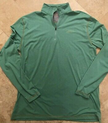 ORVIS - MEN'S Large LONG-SLEEVED ZIP NECK CASTING SHIRT - Trout Bum Collection