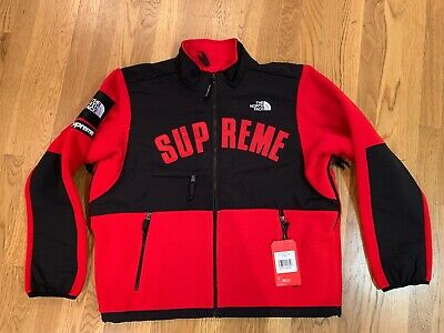 b0d063f0 Supreme SS19 The North Face Arc Logo Denali Fleece Jacket box logo Red LARGE