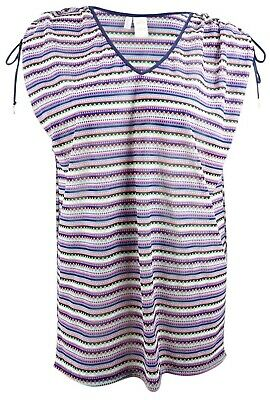 b99aa41d1f9 Anne Cole Plus Size Friendship Bracelet Striped Mesh Tunic Cover-Up 14W/16W  NWT
