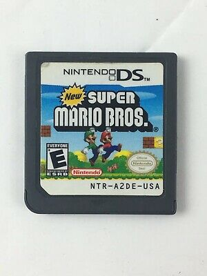 New Super Mario Bros. (Nintendo DS 2006) Cartridge Only, Cleaned & Tested Works