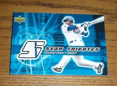 Sammy Sosa -2002 Upper Deck - Star Tributes Game Used Jersey Card - Chicago Cubs
