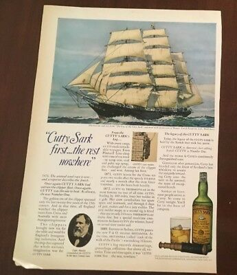 Vintage Print Ad Cutty Sark Blended Scots Whisky Capt Moody Toro