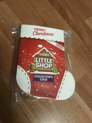 Coles Little Shop Mini Collectables Christmas Edition Full Set of 5 & Case