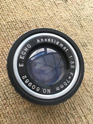 Lens E.ECHO Anastigmat 75mm 3.5 - Projection Lens