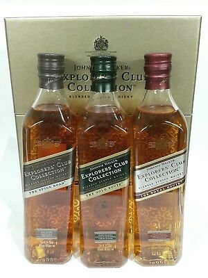 Johnnie Walker Scotch Whisky Explorers Club Collection. Rare Trade Route 3 Pack.