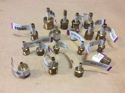 Lot of (18)  Barb X MPT , Barb X FPT  Brass Hose Barb, LEAD FREE Fuel Fitting