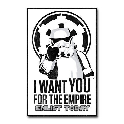Stormtrooper Star Wars I Want To You Movie Art Silk Canvas Poster 13x20 ""