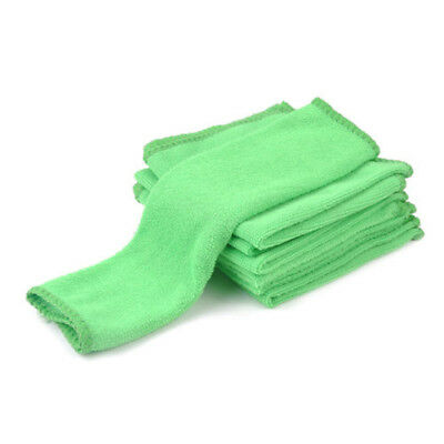 10pcs Set Car Cleaning Microfiber Cloth Washing Suede Absorbent Drying Towel Top