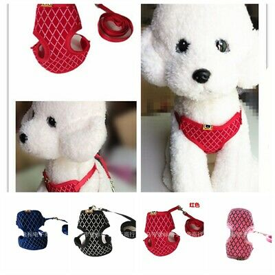 Puppy Pets Kitten Clothes Cat Walking Jacket Harness and Leash Adjustable Vest