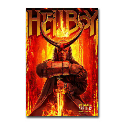 Hellboy 2019 Movie Art Silk Canvas Poster Print 13X20 32X48 inch