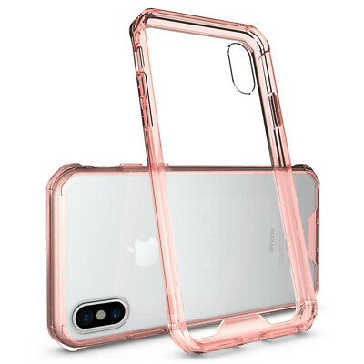 For iPhone X 8 7 6 Plus Shockproof Armor Clear Phone Case Transparent Back Cover