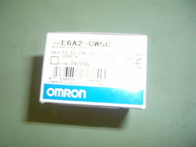 Omron...........e6A2 Cw5C........ Rotary Encoder 100 P/R 12-24 Vdc.. New  Packed