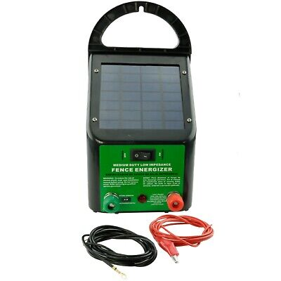 5-8km 0.4J Solar Power Electric Charger for Poly Wire Tape Posts-1 YEAR WARRANTY
