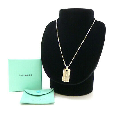 Authentic Tiffany & Co. Atlas Necklace 925 Sterling Silver #S302060